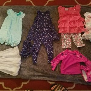 BUNDLE OF LITTLE GIRL SUMMER CLOTHES